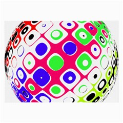 Color Ball Sphere With Color Dots Large Glasses Cloth (2 Side)