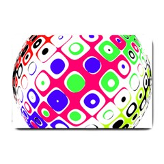 Color Ball Sphere With Color Dots Small Doormat