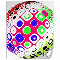 Color Ball Sphere With Color Dots Canvas 11  x 14