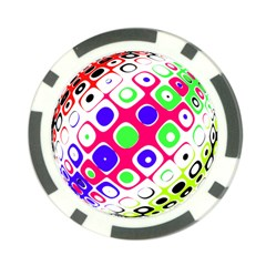 Color Ball Sphere With Color Dots Poker Chip Card Guard