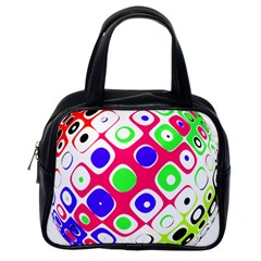 Color Ball Sphere With Color Dots Classic Handbags (One Side)