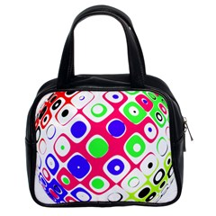 Color Ball Sphere With Color Dots Classic Handbags (2 Sides)
