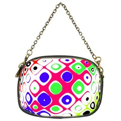 Color Ball Sphere With Color Dots Chain Purses (one Side)