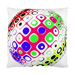 Color Ball Sphere With Color Dots Standard Cushion Case (One Side)