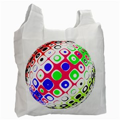 Color Ball Sphere With Color Dots Recycle Bag (one Side)