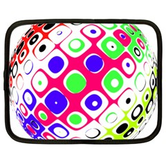 Color Ball Sphere With Color Dots Netbook Case (XL)