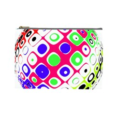Color Ball Sphere With Color Dots Cosmetic Bag (large)