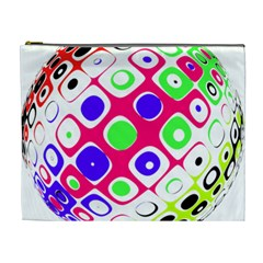 Color Ball Sphere With Color Dots Cosmetic Bag (XL)