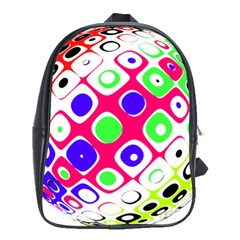 Color Ball Sphere With Color Dots School Bags(Large)