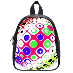 Color Ball Sphere With Color Dots School Bags (small)