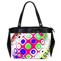 Color Ball Sphere With Color Dots Office Handbags (2 Sides)