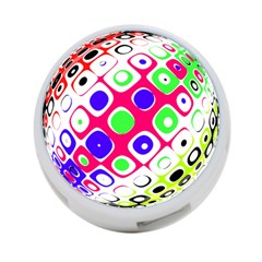 Color Ball Sphere With Color Dots 4 Port Usb Hub (one Side)
