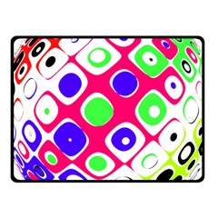 Color Ball Sphere With Color Dots Fleece Blanket (Small)