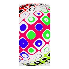 Color Ball Sphere With Color Dots Shower Curtain 36  X 72  (stall)