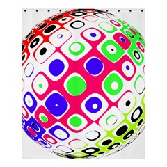 Color Ball Sphere With Color Dots Shower Curtain 60  X 72  (medium)