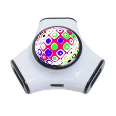 Color Ball Sphere With Color Dots 3 Port Usb Hub