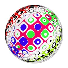 Color Ball Sphere With Color Dots Ornament (round Filigree)