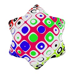 Color Ball Sphere With Color Dots Ornament (snowflake)