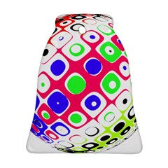 Color Ball Sphere With Color Dots Ornament (Bell)