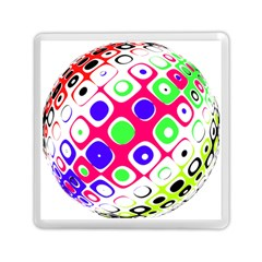 Color Ball Sphere With Color Dots Memory Card Reader (Square)