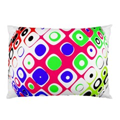Color Ball Sphere With Color Dots Pillow Case (Two Sides)