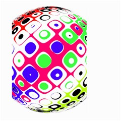 Color Ball Sphere With Color Dots Large Garden Flag (two Sides)