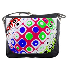Color Ball Sphere With Color Dots Messenger Bags