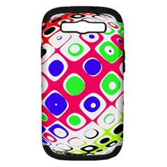 Color Ball Sphere With Color Dots Samsung Galaxy S Iii Hardshell Case (pc+silicone)
