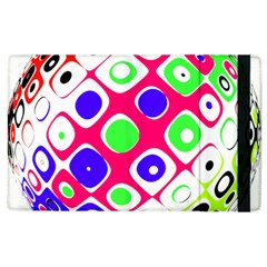 Color Ball Sphere With Color Dots Apple Ipad 2 Flip Case