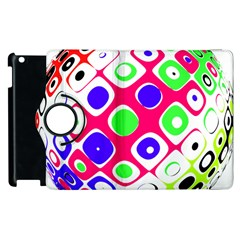 Color Ball Sphere With Color Dots Apple Ipad 3/4 Flip 360 Case