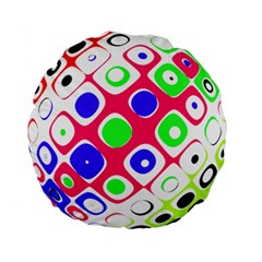 Color Ball Sphere With Color Dots Standard 15  Premium Round Cushions