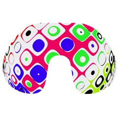 Color Ball Sphere With Color Dots Travel Neck Pillows