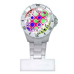 Color Ball Sphere With Color Dots Plastic Nurses Watch