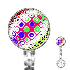 Color Ball Sphere With Color Dots Stainless Steel Nurses Watch