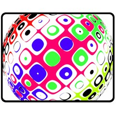 Color Ball Sphere With Color Dots Double Sided Fleece Blanket (medium)
