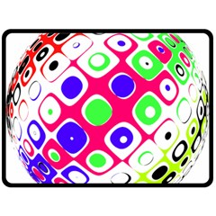 Color Ball Sphere With Color Dots Double Sided Fleece Blanket (large)
