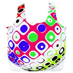 Color Ball Sphere With Color Dots Full Print Recycle Bags (l)