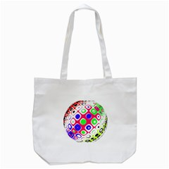 Color Ball Sphere With Color Dots Tote Bag (white)