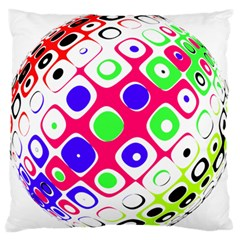 Color Ball Sphere With Color Dots Large Flano Cushion Case (one Side)