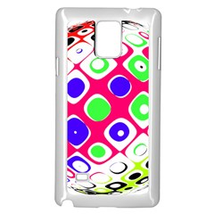 Color Ball Sphere With Color Dots Samsung Galaxy Note 4 Case (white)