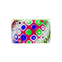 Color Ball Sphere With Color Dots Cosmetic Bag (xs)