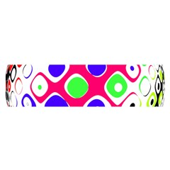 Color Ball Sphere With Color Dots Satin Scarf (Oblong)
