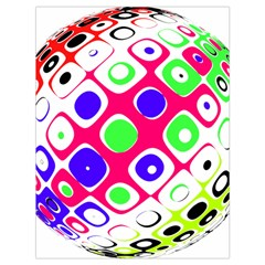 Color Ball Sphere With Color Dots Drawstring Bag (large)