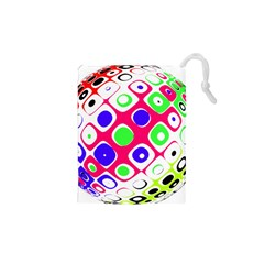 Color Ball Sphere With Color Dots Drawstring Pouches (XS)