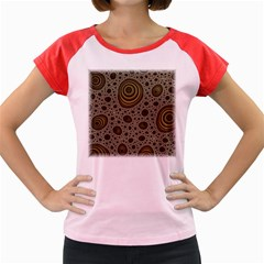 White Vintage Frame With Sepia Targets Women s Cap Sleeve T Shirt