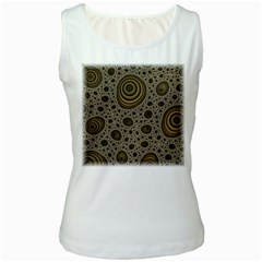 White Vintage Frame With Sepia Targets Women s White Tank Top