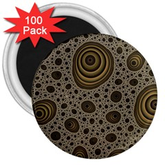 White Vintage Frame With Sepia Targets 3  Magnets (100 Pack)