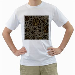 White Vintage Frame With Sepia Targets Men s T Shirt (white) (two Sided)