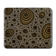 White Vintage Frame With Sepia Targets Large Mousepads