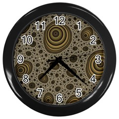 White Vintage Frame With Sepia Targets Wall Clocks (black)